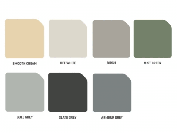 Unicote colour swatch of roof sheeting