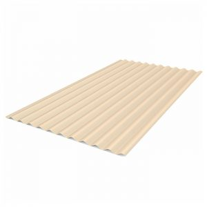 beige corrugated roof sheet
