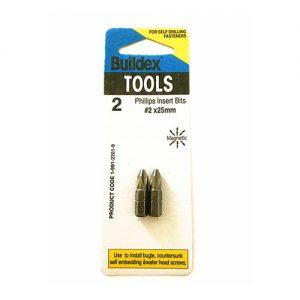 2 screwdriver bits in a packet
