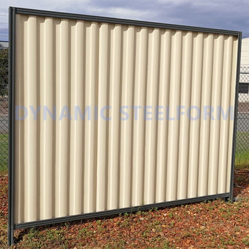 white fence display