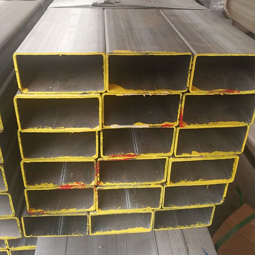 Pile of rectangular hollow steel tubes