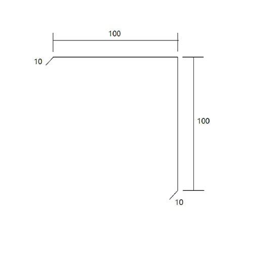 Zincalume flashing corner mould diagram