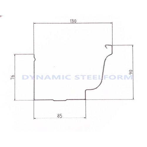 zincalume gutter g550 diagram