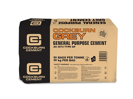 block of 20kg packaged cement
