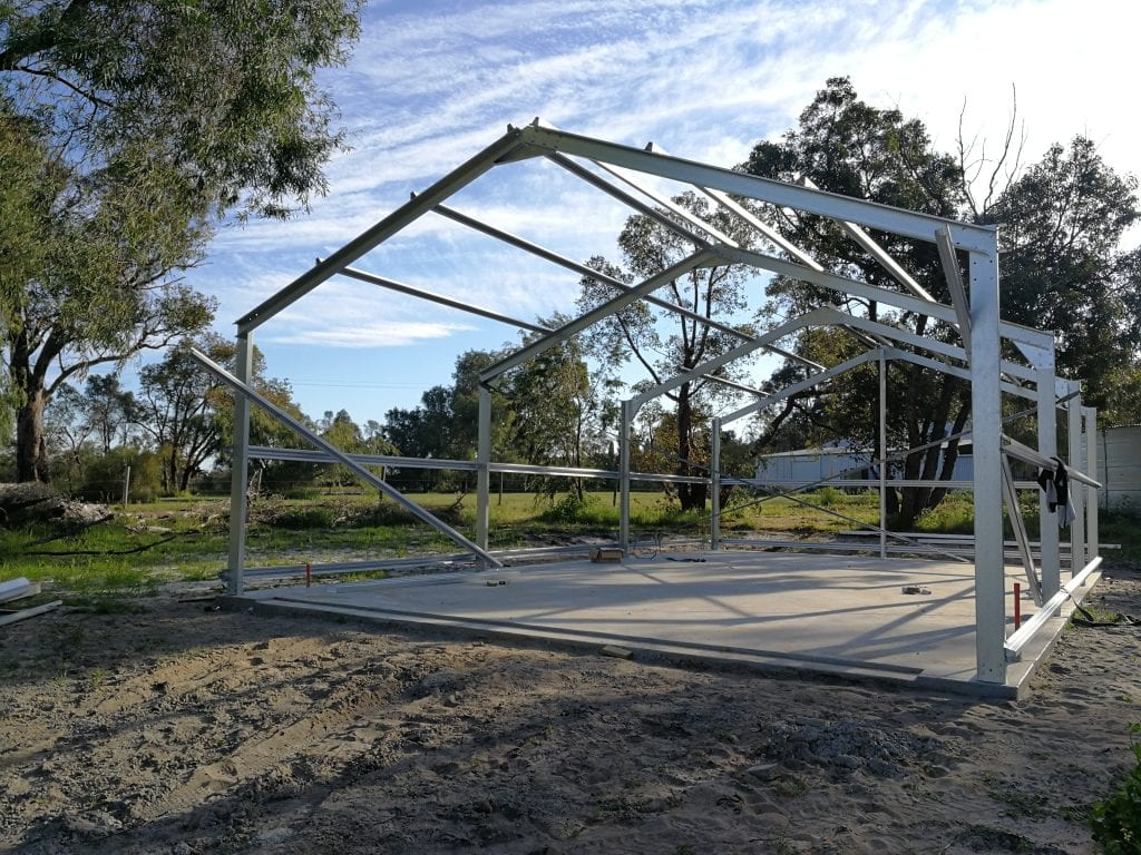 steel framing for shed